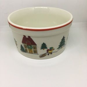 Jamestown China the joy of Christmas dip bowl dish